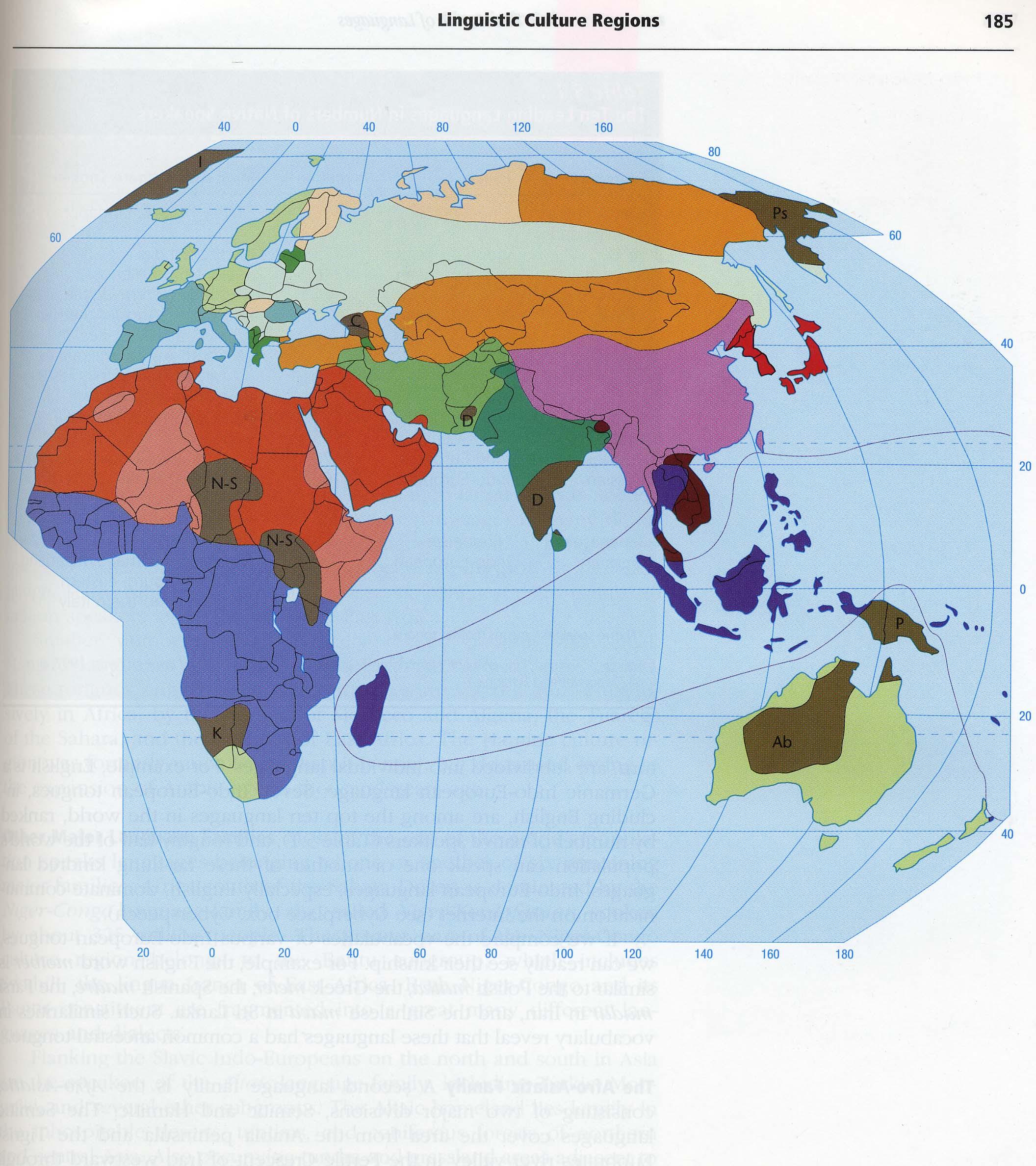 Multilingualism general notes on multilingualism language families old world map publicscrutiny Images